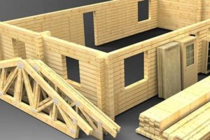 Производство домов из бруса