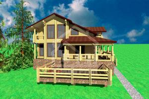 Большие дома и комплексы из сруба