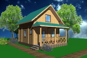 Д2-064. Дом деревянный из сруба 64 м.