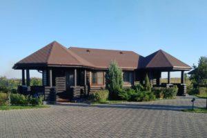 Одноэтажные дома из бревна