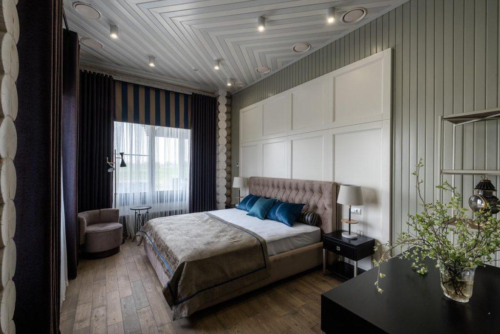 Дизайн спальни в загородном клубе