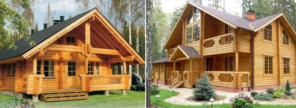 Производство и строительство домов из бруса в Ростове-на-Доу, большой выбор проектов