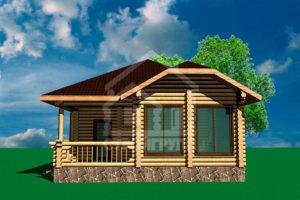 Одноэтажные деревянные дома из сруба