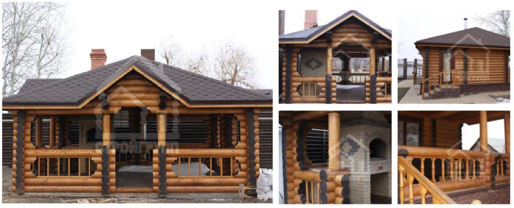 Дачный дом с баней из сруба по оригинальному проекту в Ростове