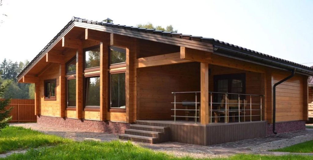 Дом из бруса современный проект