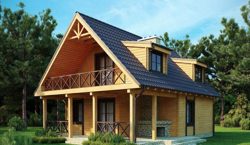 каркасный дом проект 4