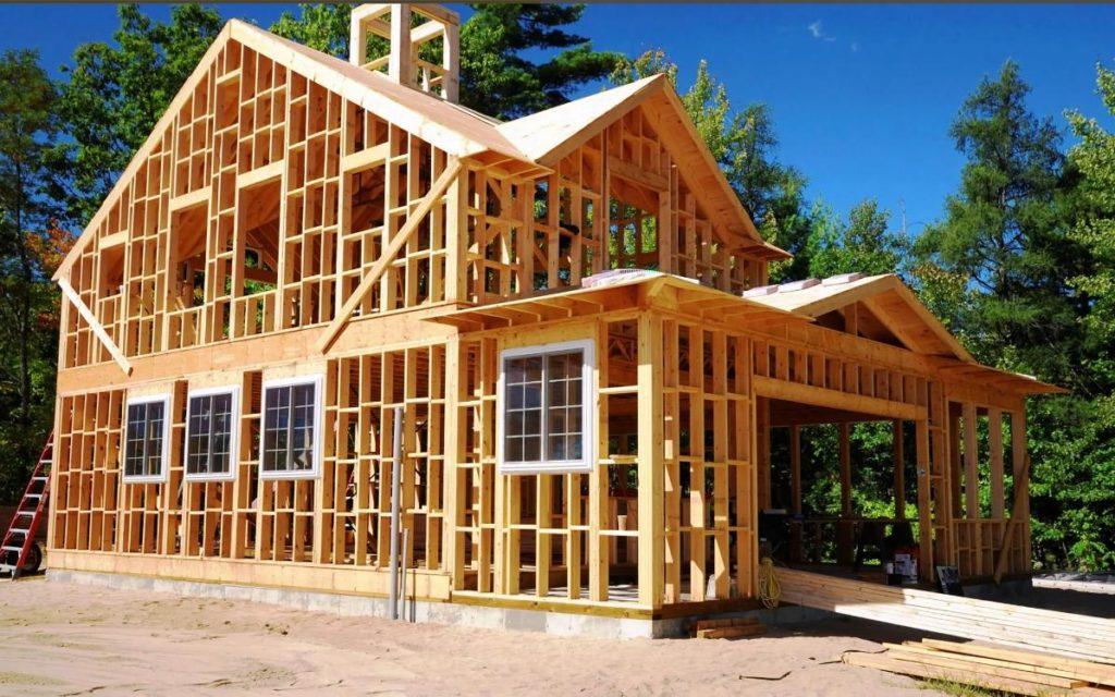 каркасный дом строительство 2