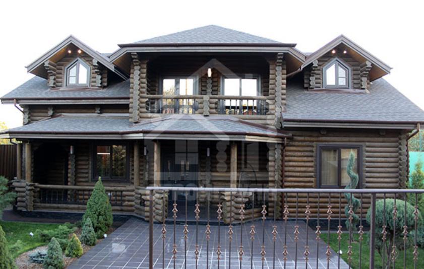 Двухэтажный дом из сруба в Ростове