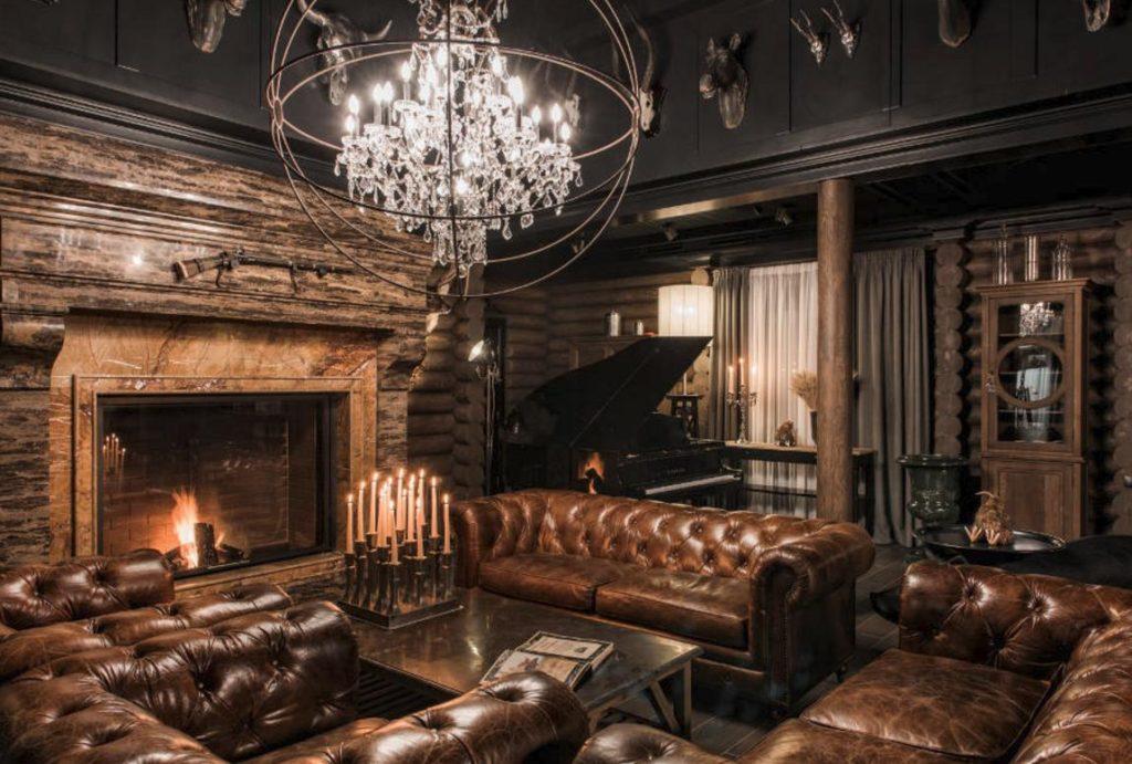 Деревянные панели в дизайне гостиной