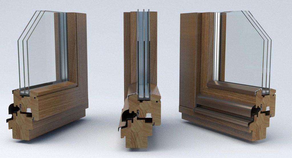 Конструкция современных окон из дерева