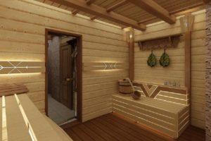 Проекты бань из бруса с планировкой в Ростове