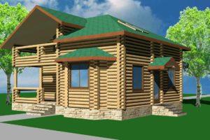 Проекты деревянных домов из сруба площадью 120, 130, 140 метров
