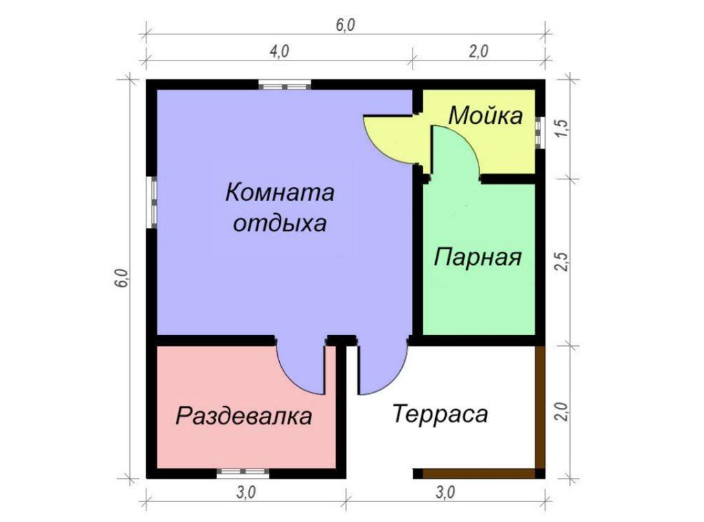 Заказать баню размером 6 на 6 метров в Ростове