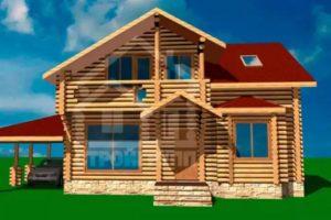 Проекты деревянных домов из сруба площадью 170, 180, 200 метров
