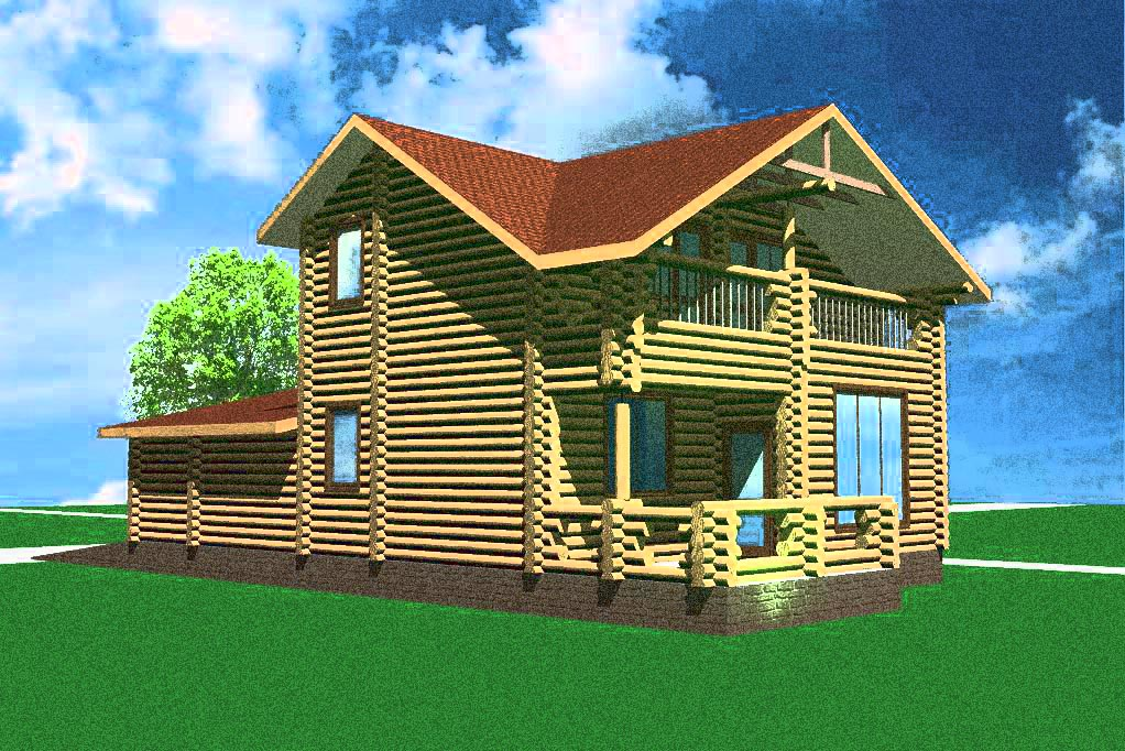 Эскизный проект деревянного дома № 3
