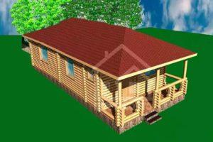 Д1-048. Дом, дача из сруба 48 метров