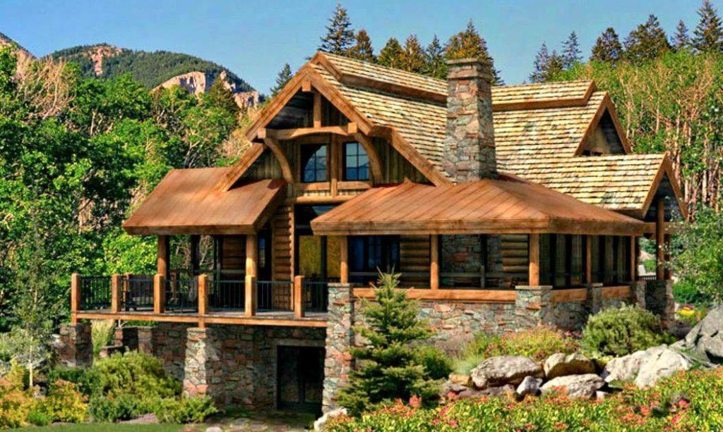 Дом из сруба в Канадском стиле