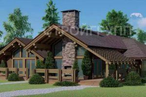 Проекты деревянных гостиниц на 6 номеров