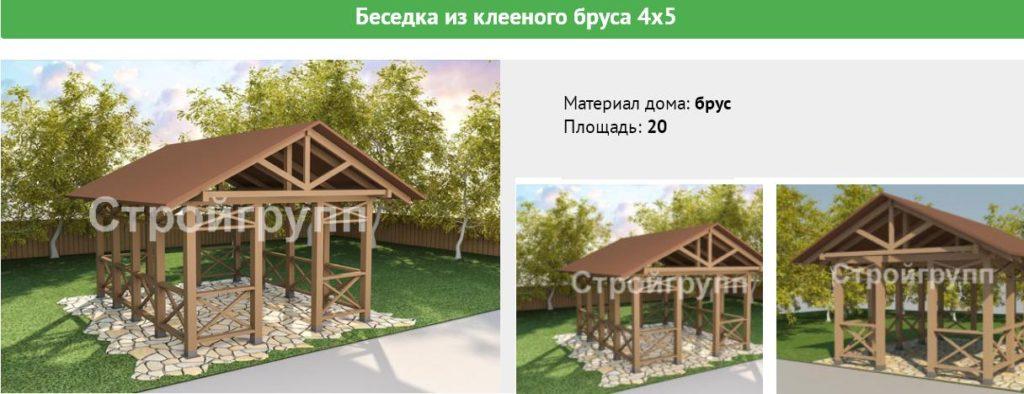 Проекты деревянных беседок из сруба