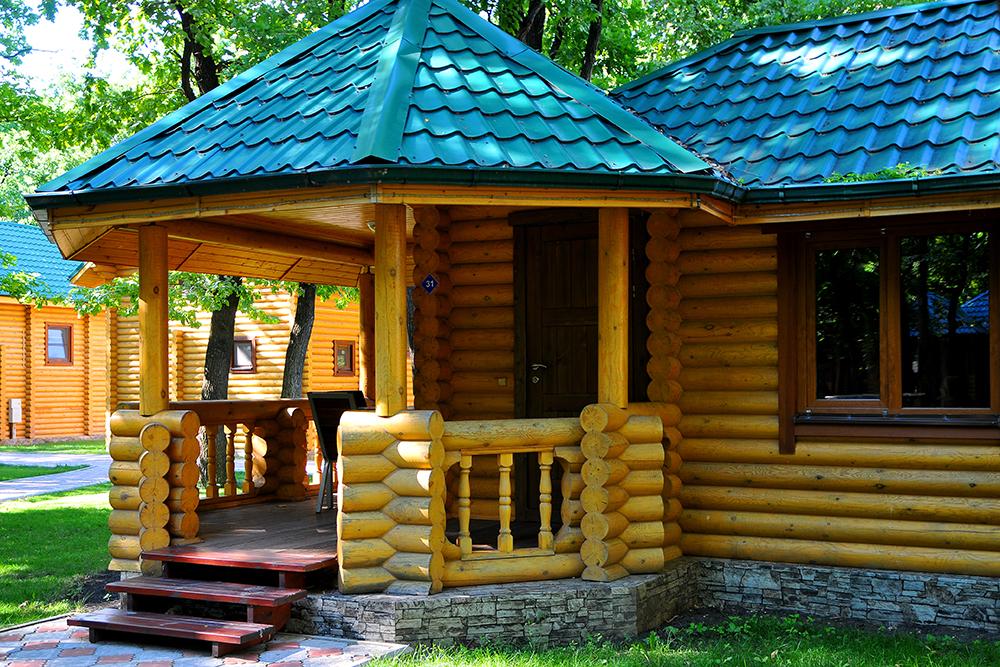 Современные деревянные базы отдыха
