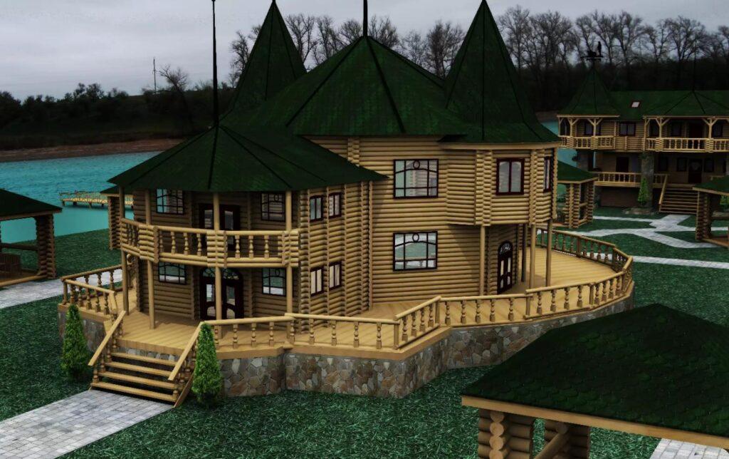 Мы предлагаем индивидуальное проектирование деревянных гостиниц