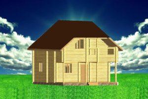 Д2-100. Деревянный дом из сруба 100 м.