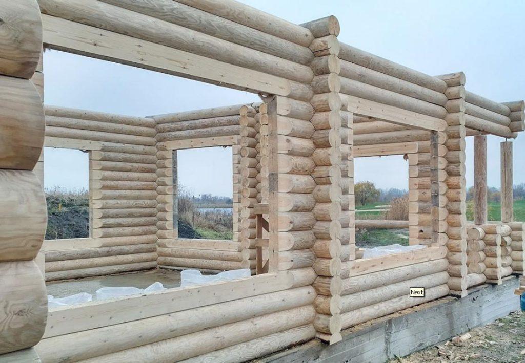 Монтаж дома из сруба в Ростове