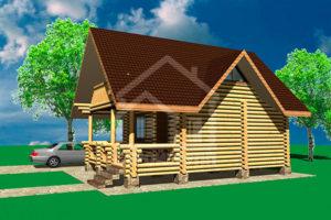 Дачный домик из сруба