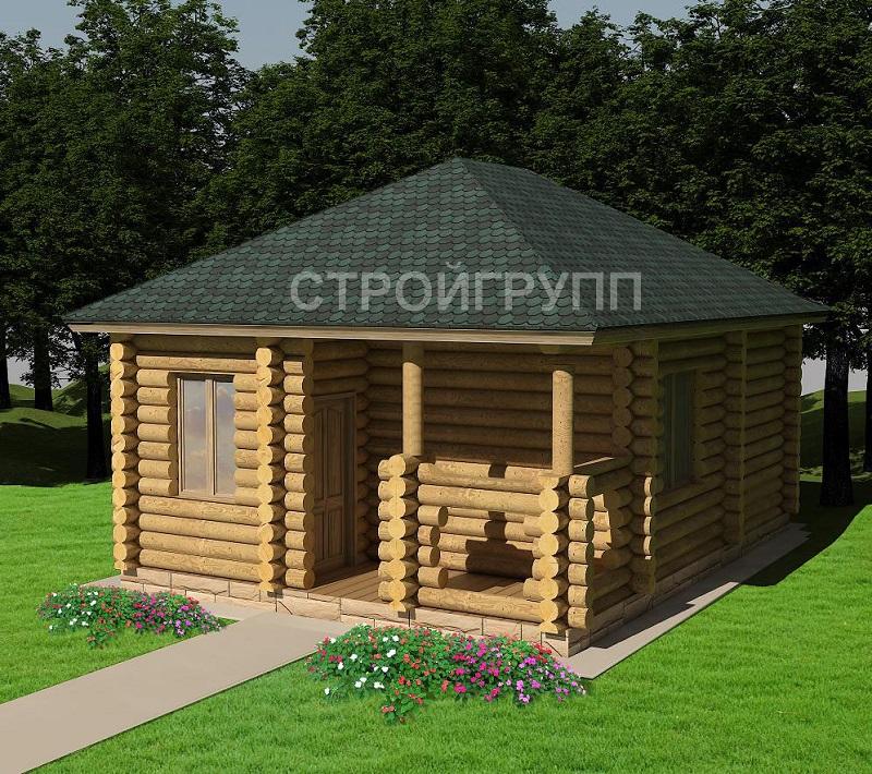 проект частной деревянная бани