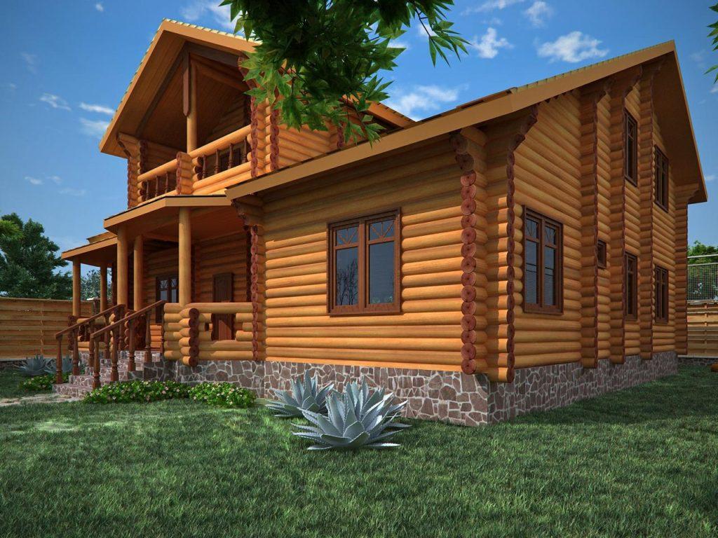 Проектируем дома из бревна индивидуально