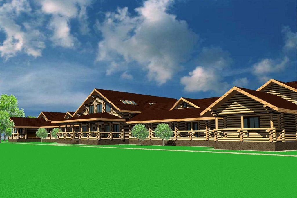Проект бревенчатой гостиницы