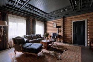 Красивые интерьеры бревенчатых домов