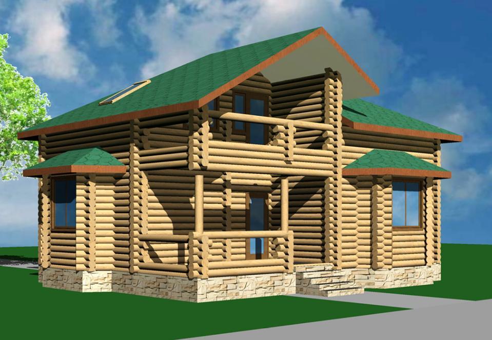 Проект деревянного дома Стройгрупп