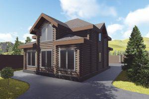 Проекты деревянных домов из сруба площадью 100, 110, 120 метров