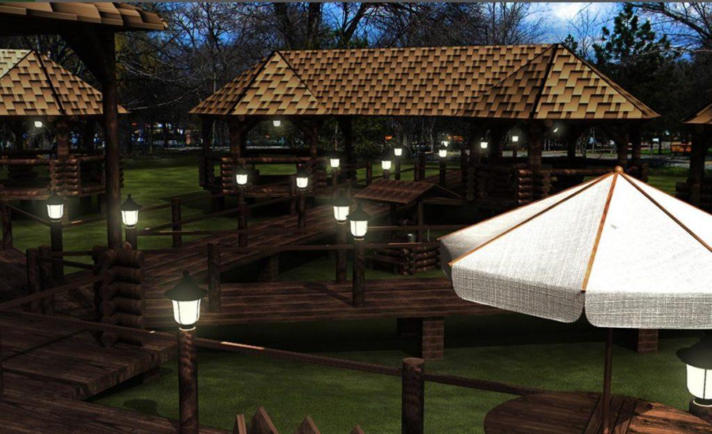 Летние деревянные рестораны