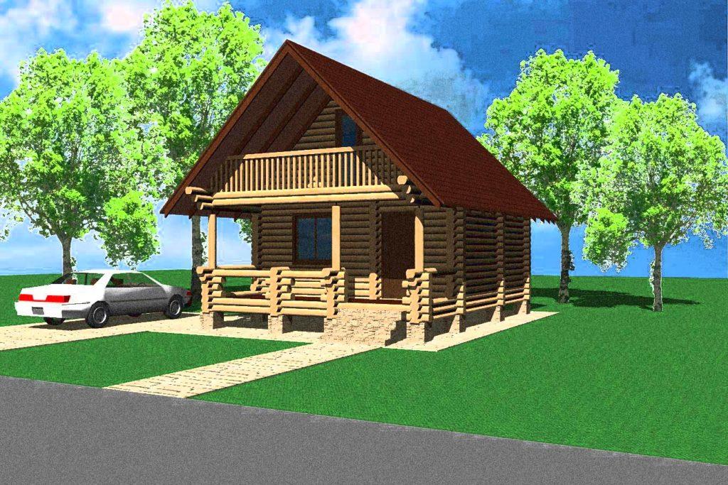 Эскизный проект деревянного дома № 2