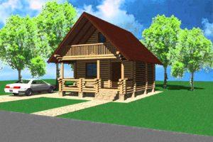 Эскизные проекты деревянных домов из сруба