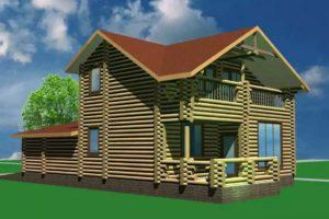 ДБ2-190 Дом из бруса 190 м