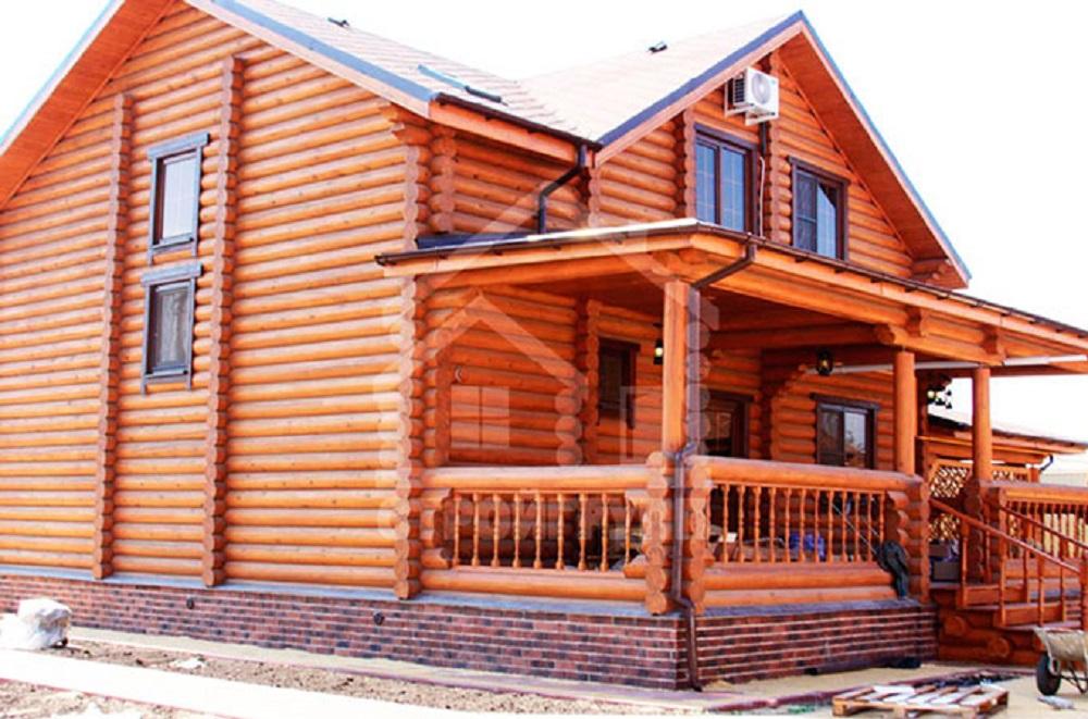 деревенский дом в русском стиле