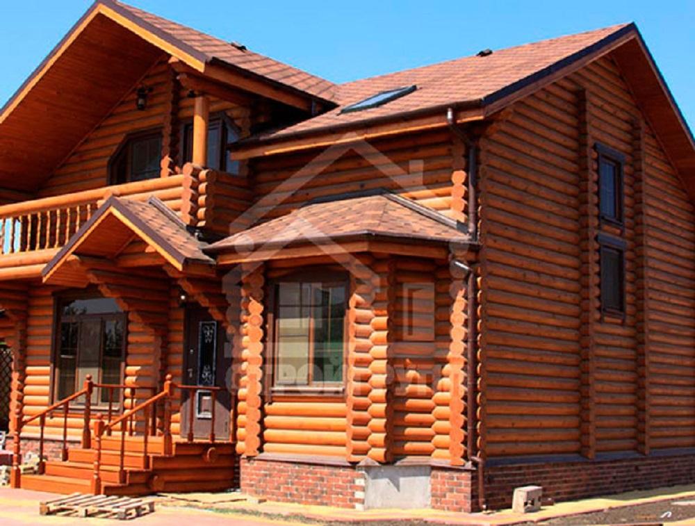 домик из дерева для дачи в деревенском стиле