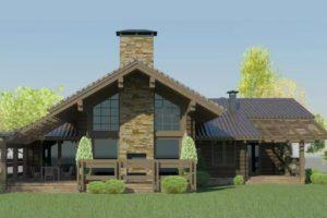 Проекты деревянных мини гостиниц на 5 номеров