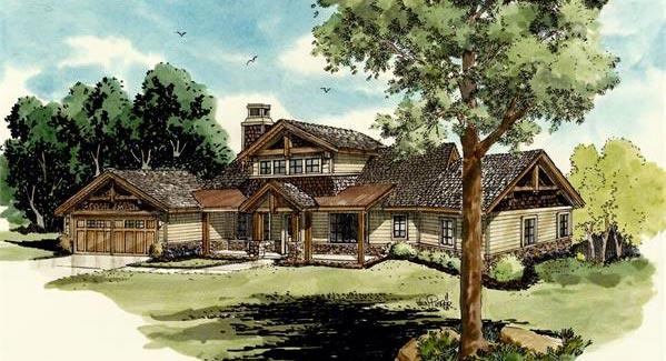Американские проекты деревянных домов из сруба и бруса