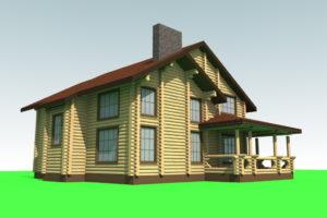 Д2-186. Дом из сруба 186 метров