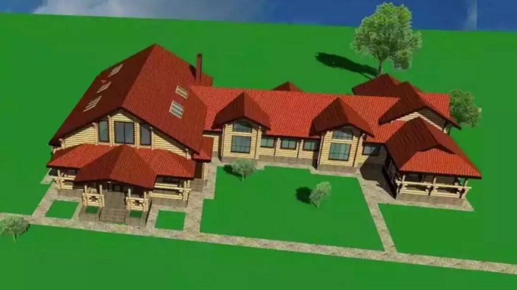 Проект деревянной гостиницы на 8-10 номеров