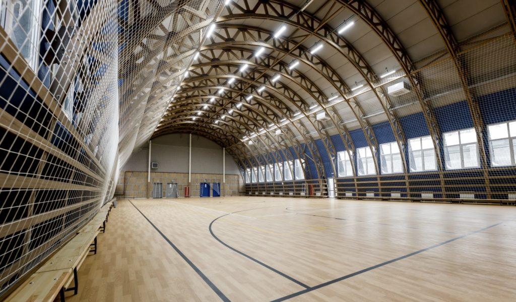 Строительство спортивного комплекса на основе деревянных бескаркасных конструкций