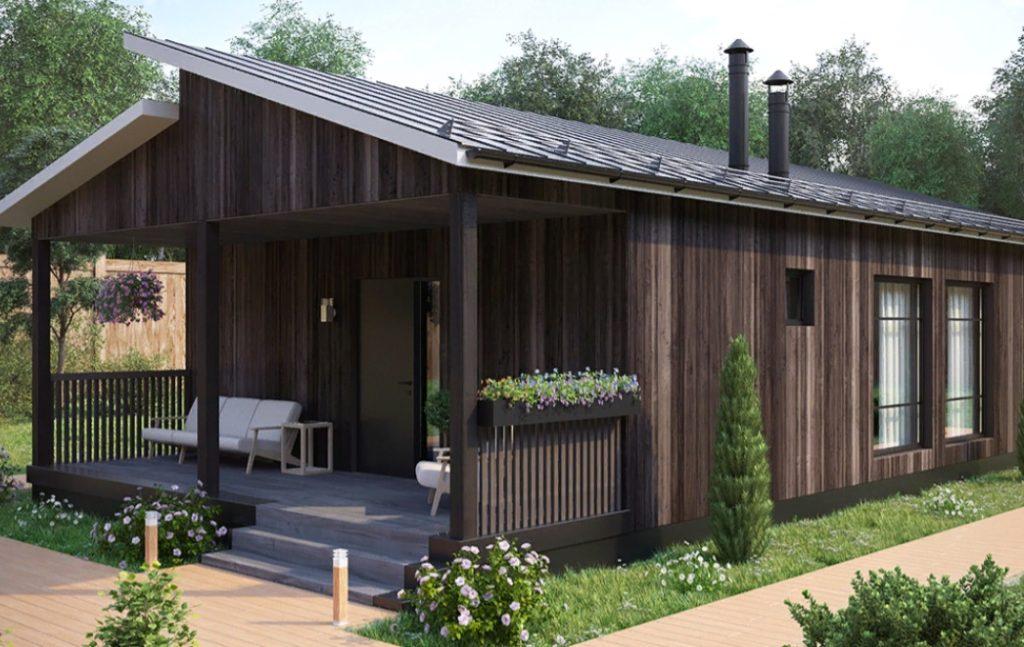 Летние деревянные домики для туристов