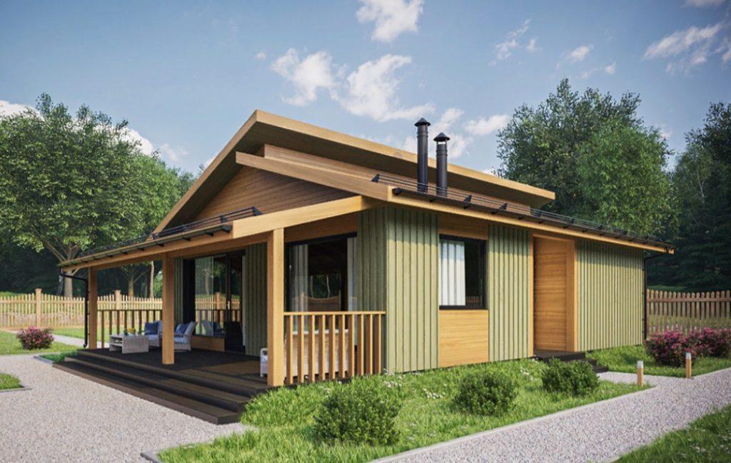 Деревянный домик для современного кемпинга на 2 - 3 номера