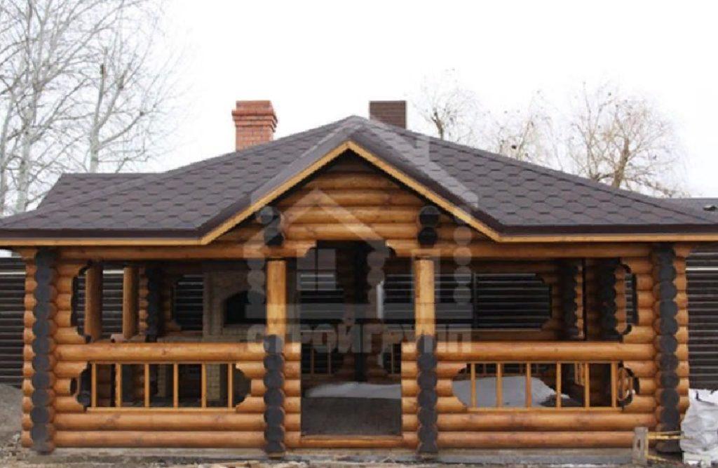 Современная баня из традиционного бревна